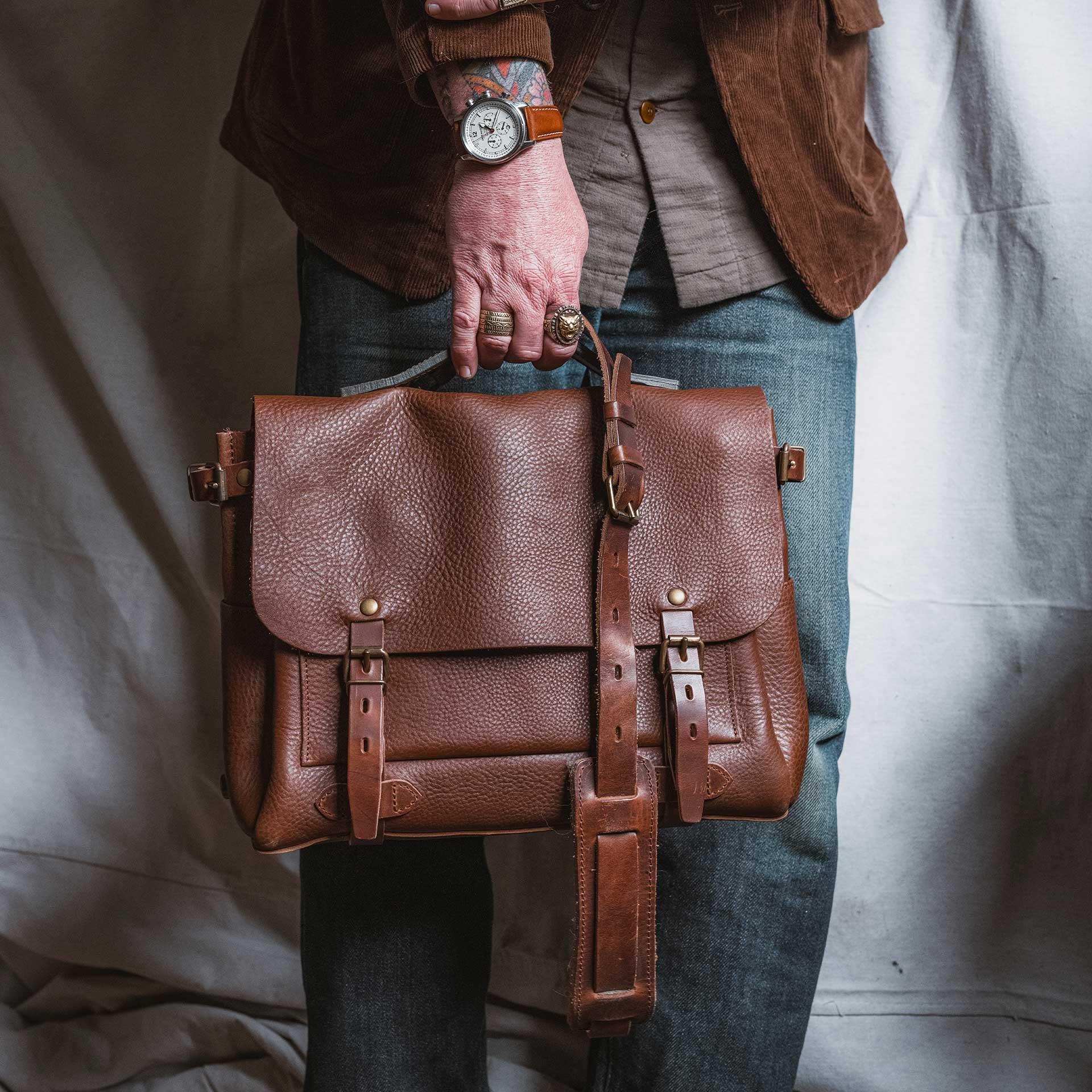 Postman bag Eclair M - Dark Brown (image n°6)