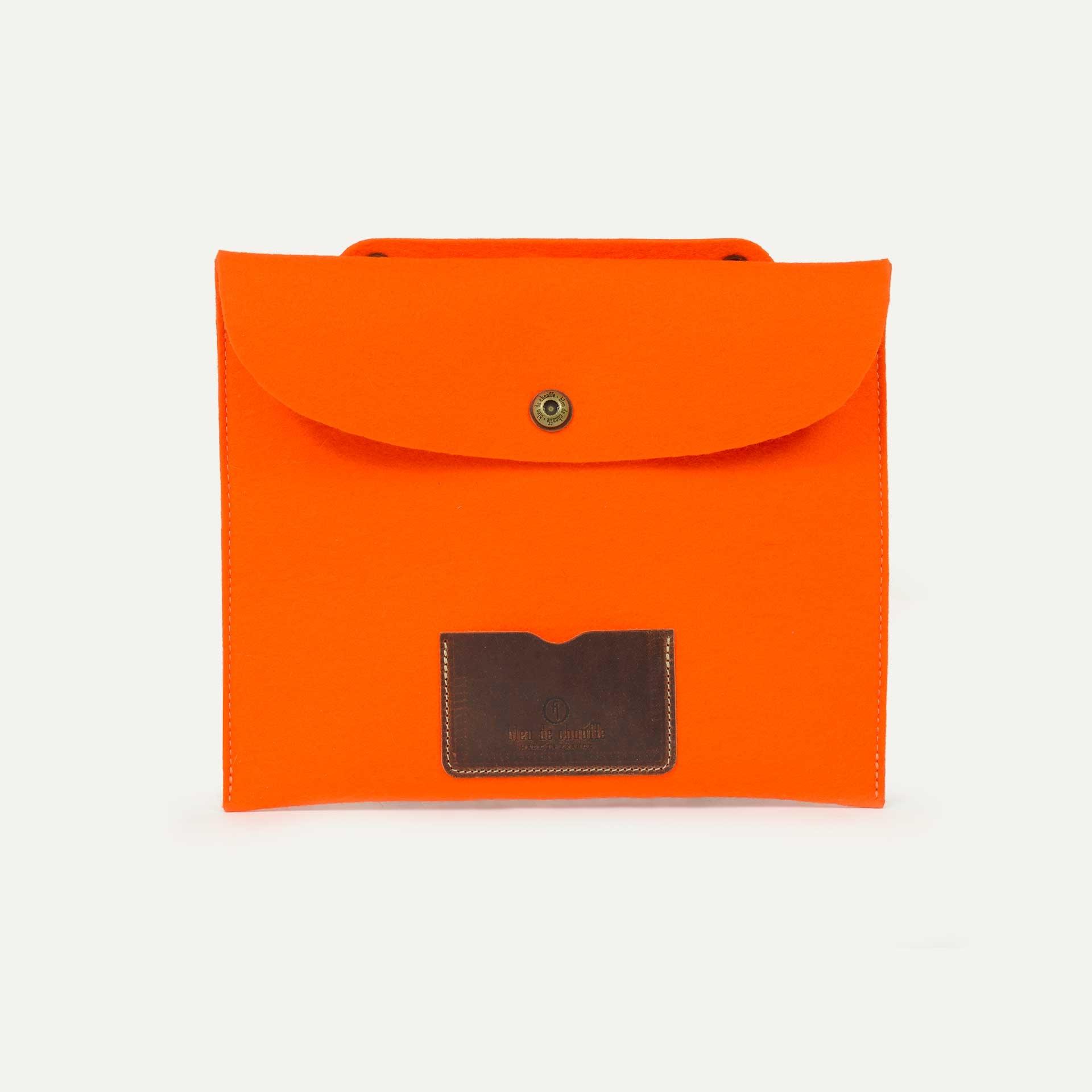 Miky iPad sleeve - Orange Felt (image n°1)