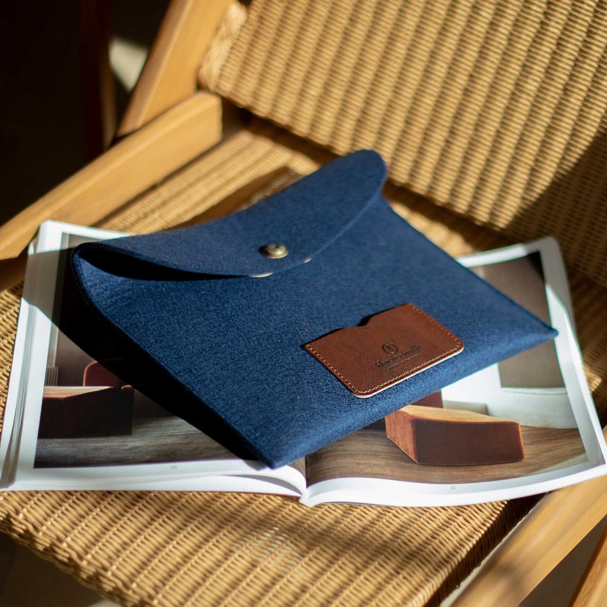 Miky iPad sleeve - Orange Felt (image n°3)
