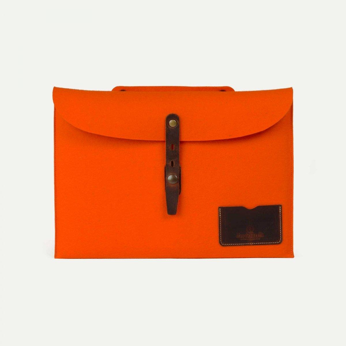 """Misha 13"""" Laptop sleeve - Orange felt (image n°1)"""