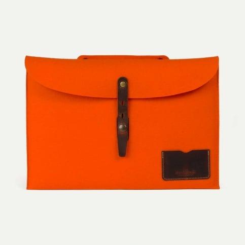 "Misha 15"" Laptop sleeve - Orange felt"