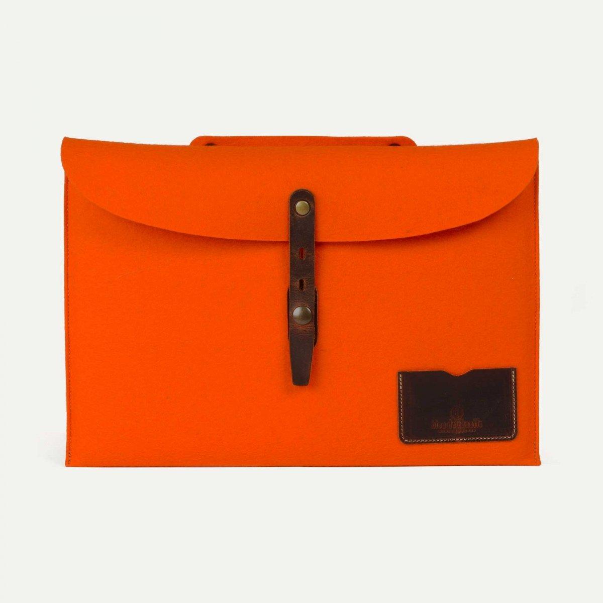 """Misha 15"""" Laptop sleeve - Orange felt (image n°1)"""