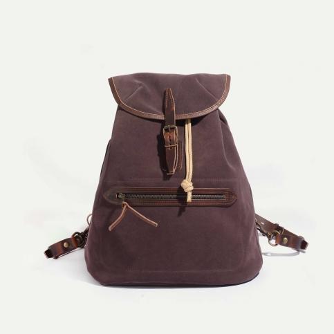 Camp backpack / Suede - Burgundy