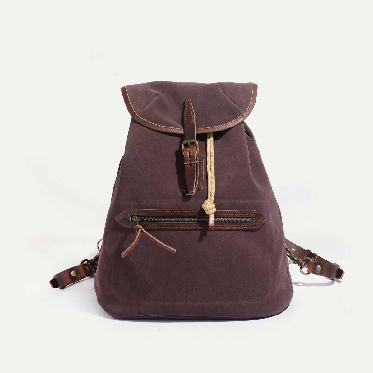 Camp backpack / Suede - Burgundy (image n°1)