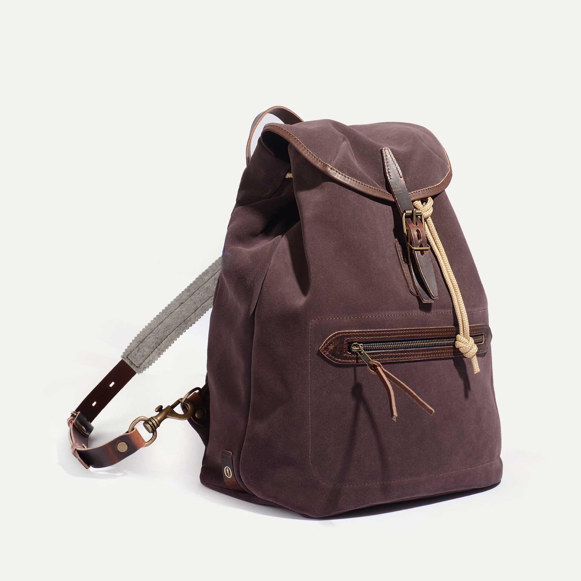 Camp backpack / Suede - Burgundy (image n°2)