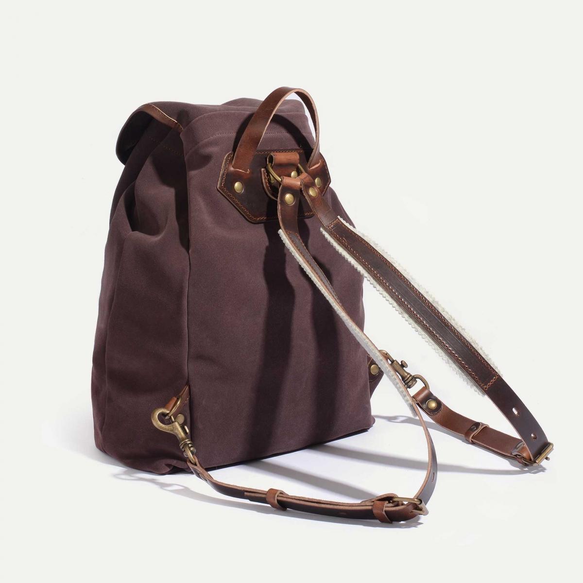 Camp backpack / Suede - Burgundy (image n°3)