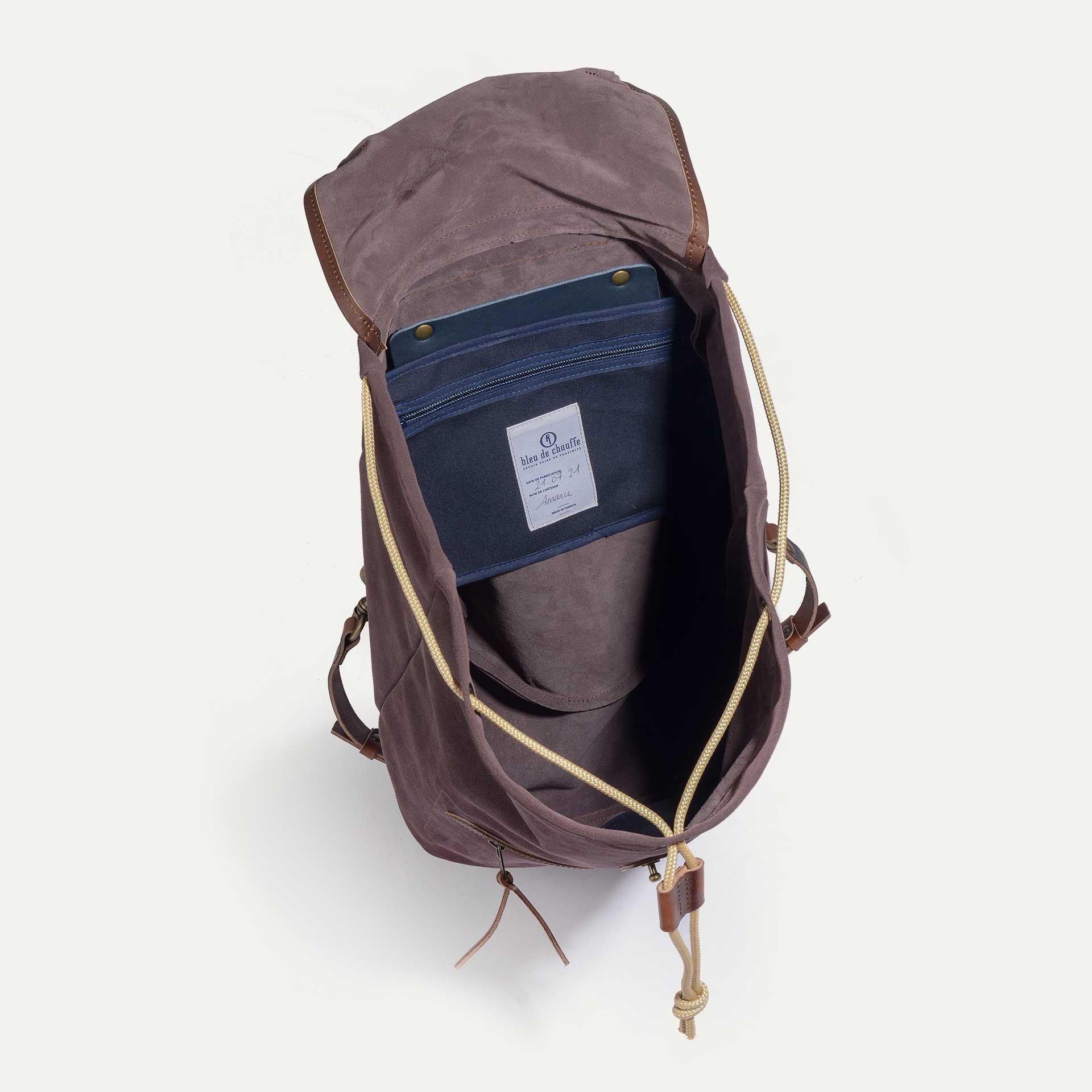 Camp backpack / Suede - Burgundy (image n°4)