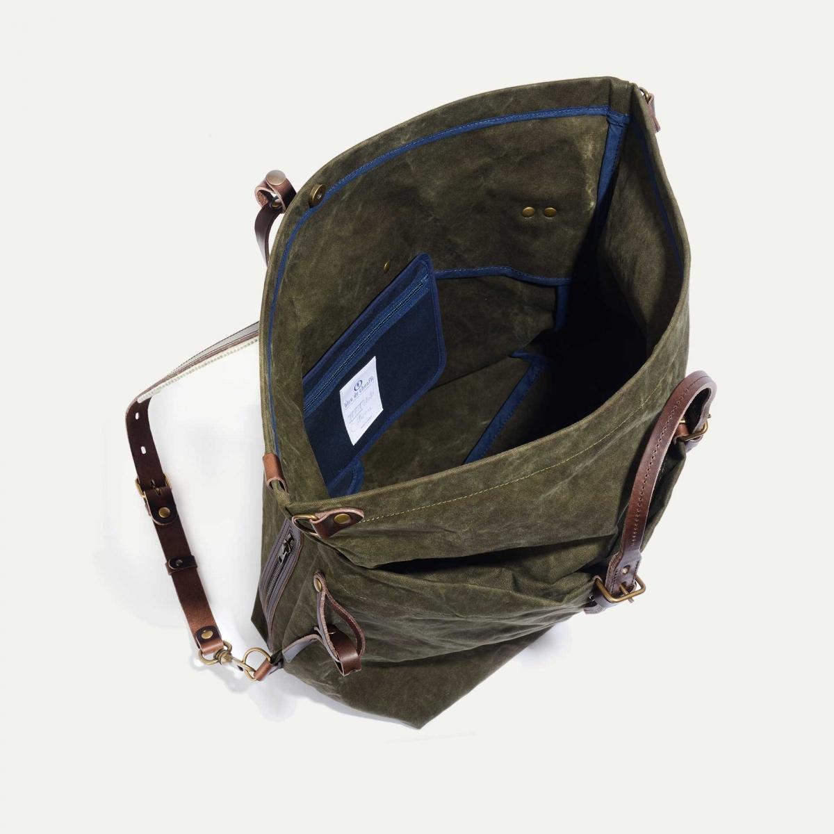 Woody L Backpack - Dark Khaki (image n°4)