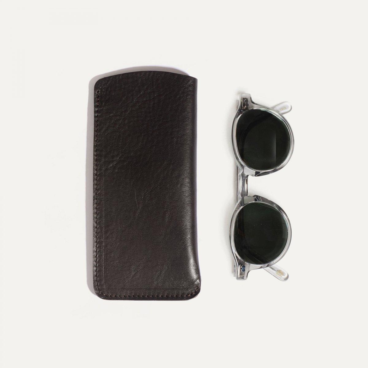 Binocle glasses case - Dark brown (image n°1)