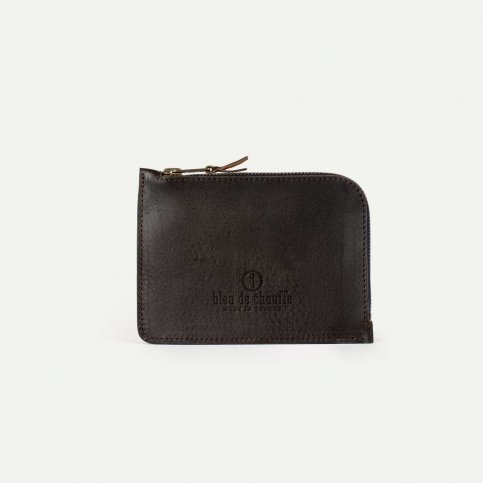 As zippered purse / M - Brown