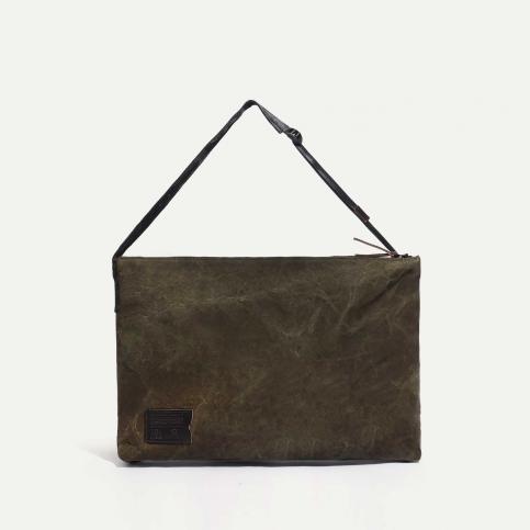 Baston Messenger Bag - Dark Khaki Stonewashed