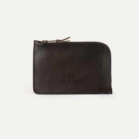 Pognon zippered purse  / L - Dark Brown