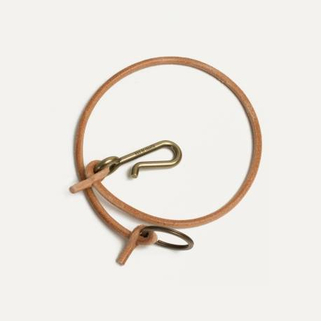 Lacet key ring - Natural