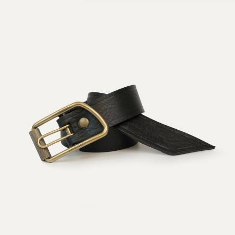 Maillon Belt - Black grained