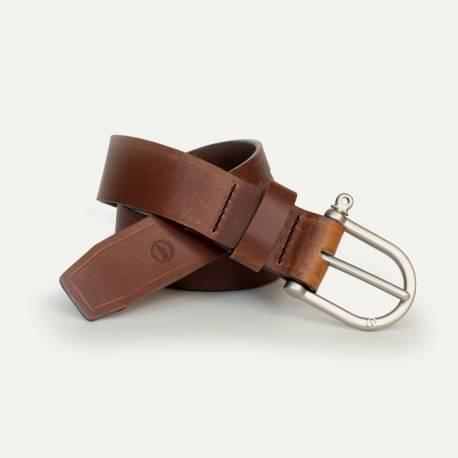 Manille Belt - Pain brûlé / Silver