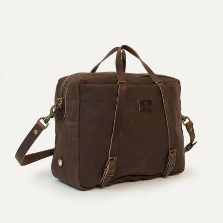 Business bag Report WAXY - Brown