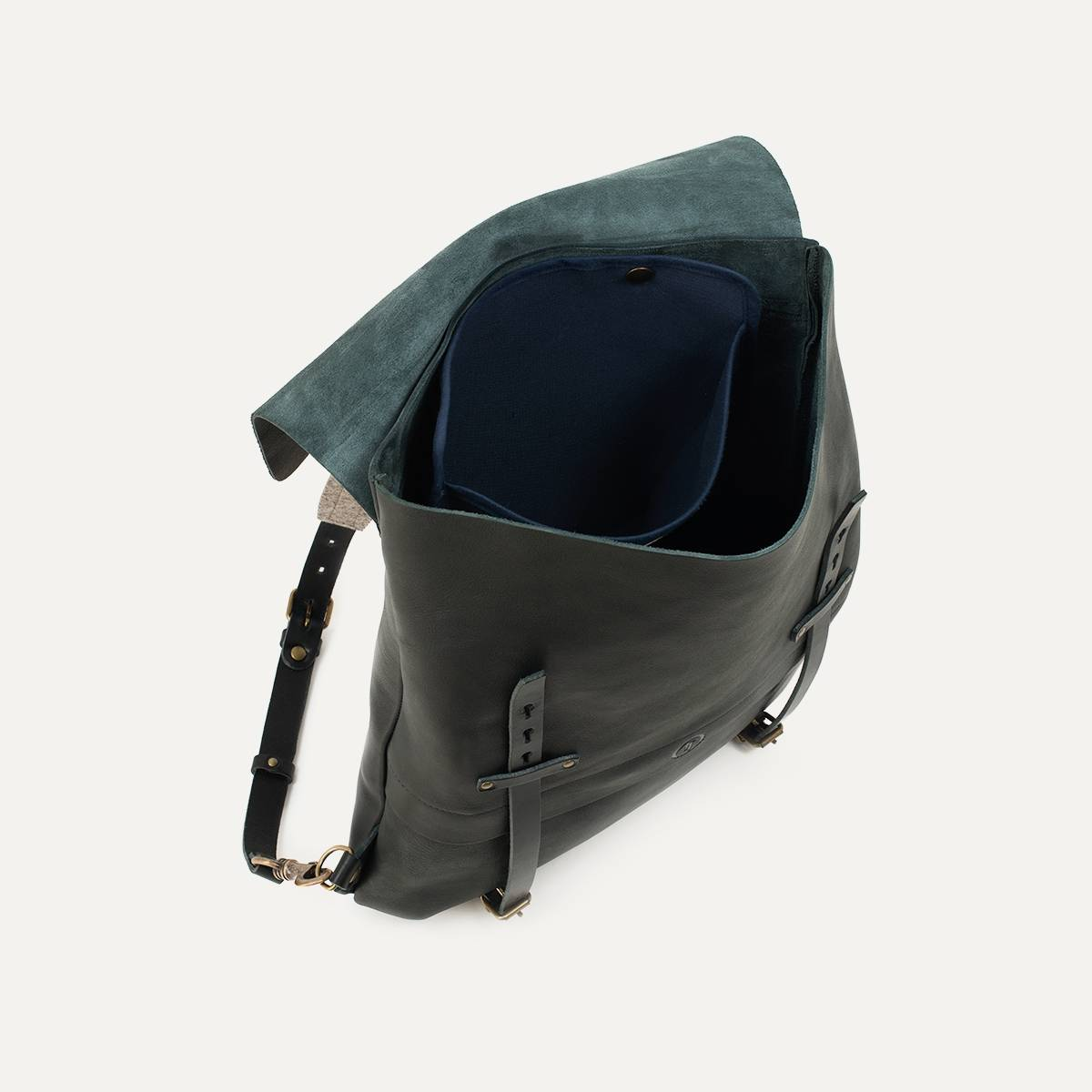 Coursier leather backpack - Black (image n°3)