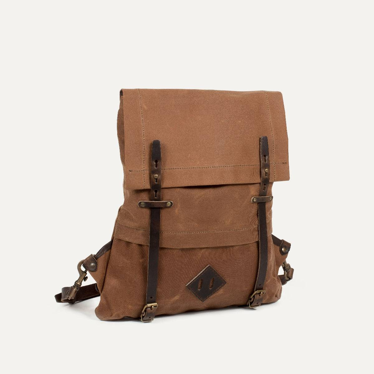 Coursier backpack WAXY - Camel/Brown (image n°2)