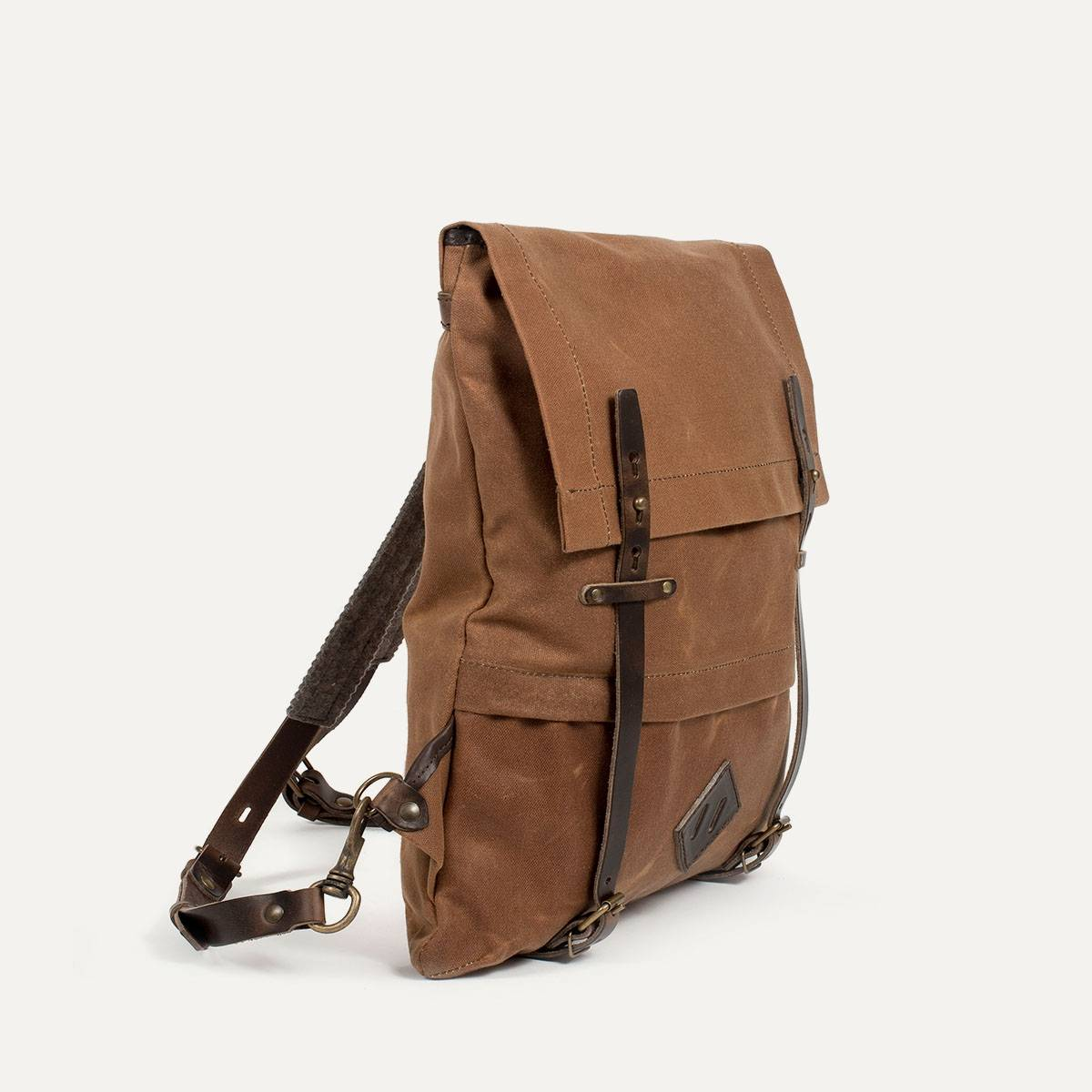 Coursier backpack WAXY - Camel/Brown (image n°3)