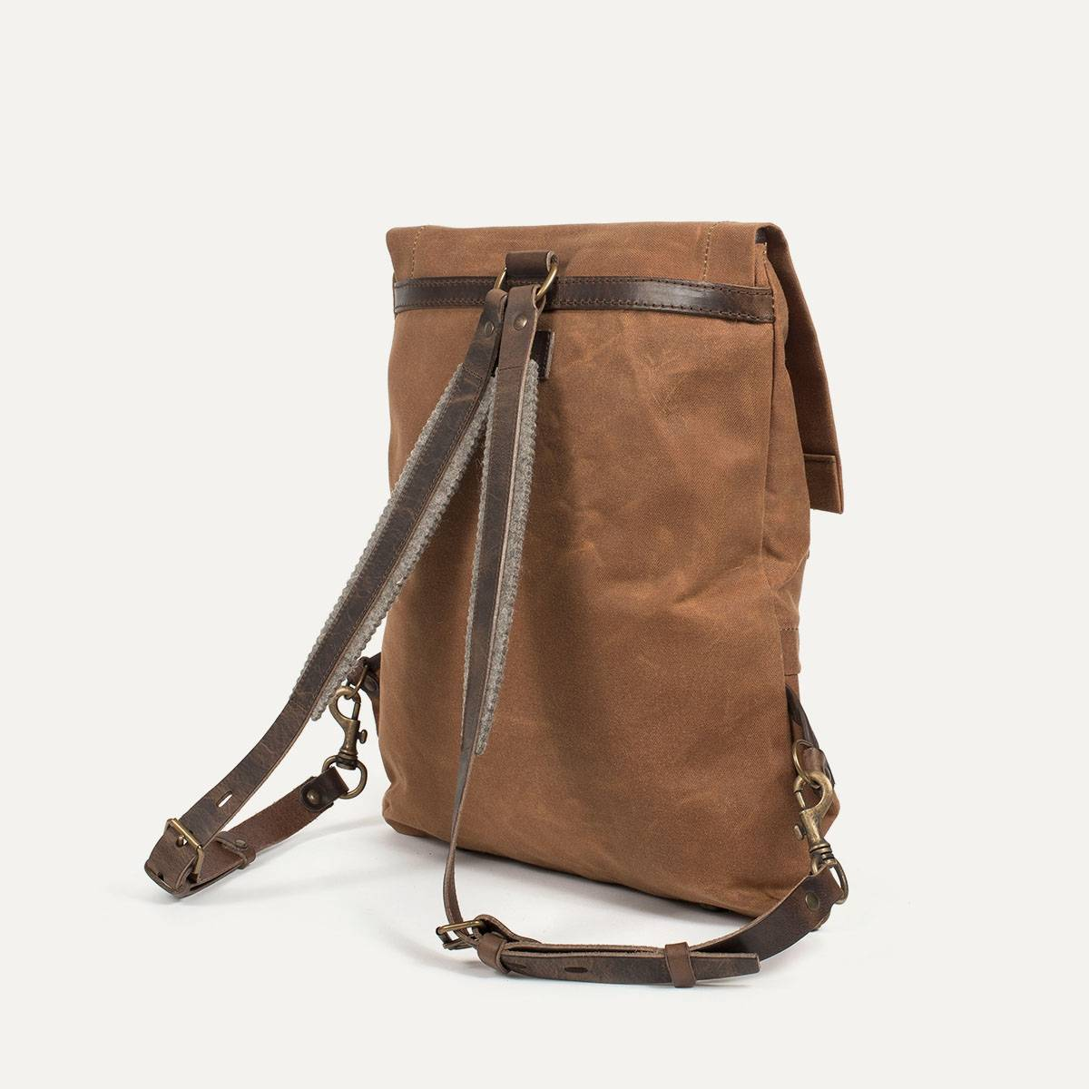 Coursier backpack WAXY - Camel/Brown (image n°4)