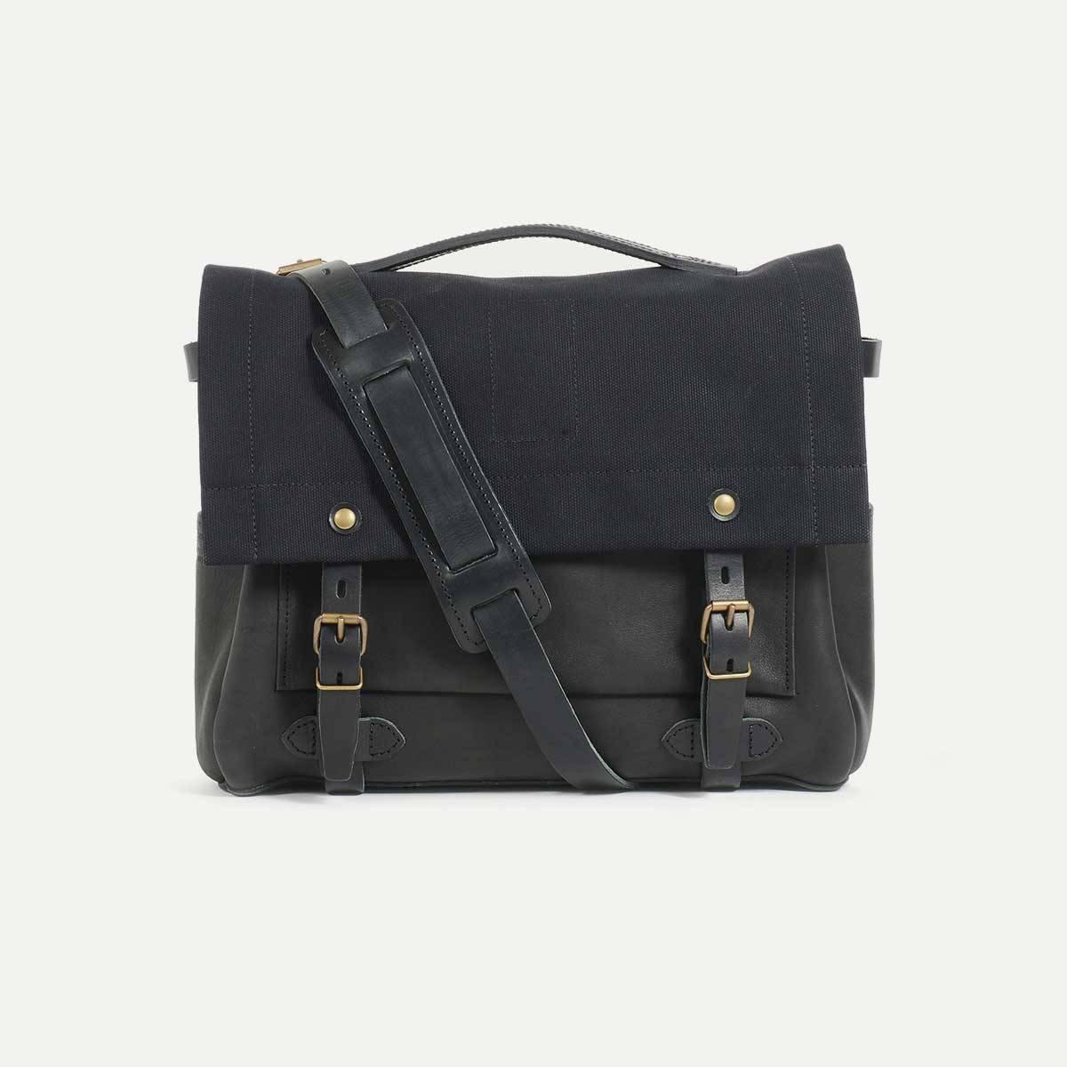 sac postier eclair noir bleu de chauffe. Black Bedroom Furniture Sets. Home Design Ideas