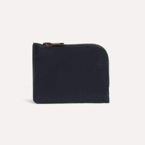 Porte monnaie zippé As - Noir /  Bleu de Chauffe x Le Mont Saint Michel