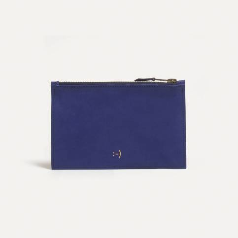 Leather Pouch COSMO S - blue