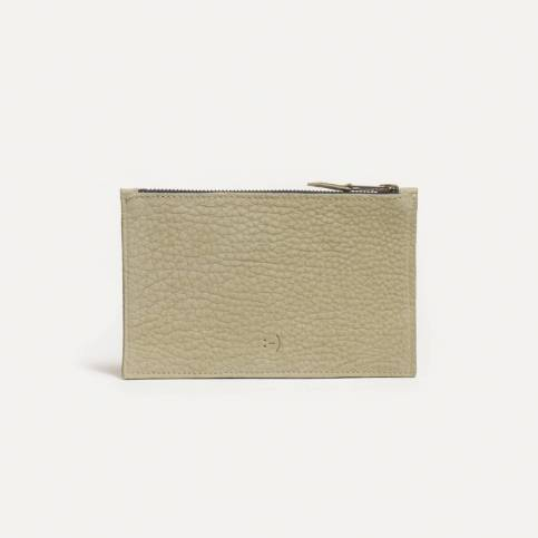 Leather Pouch COSMO S - Almond