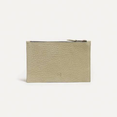 Trousse cuir COSMO S - Vert Amande