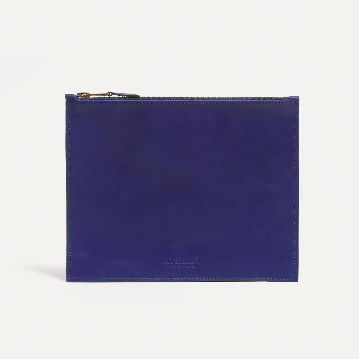 Leather Pouch COSMO M - blue (image n°2)