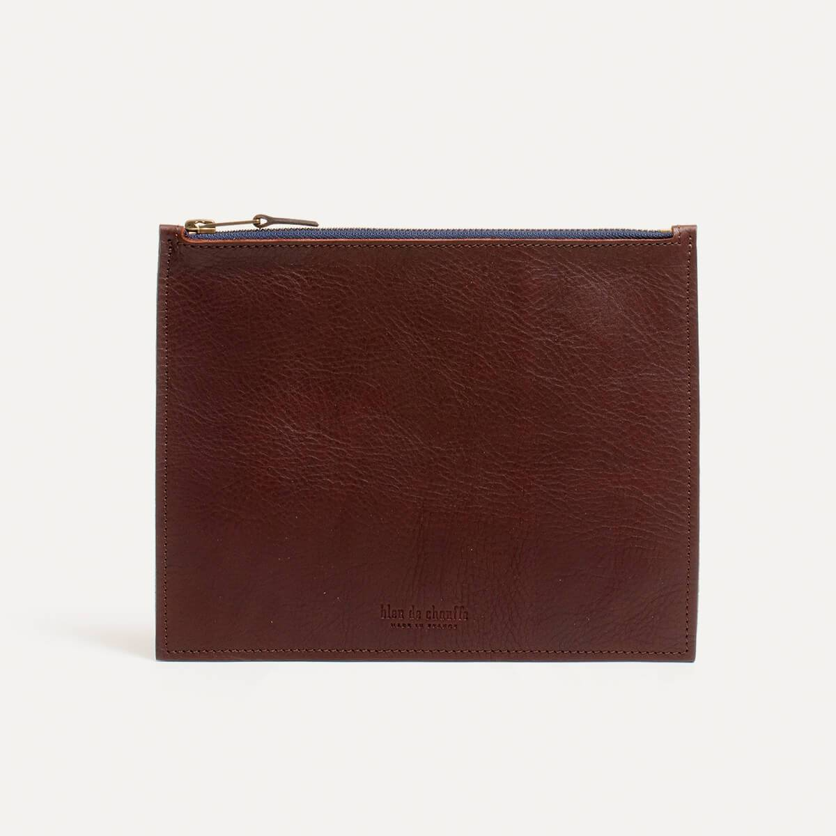 Leather Pouch COSMO M - peat (image n°2)