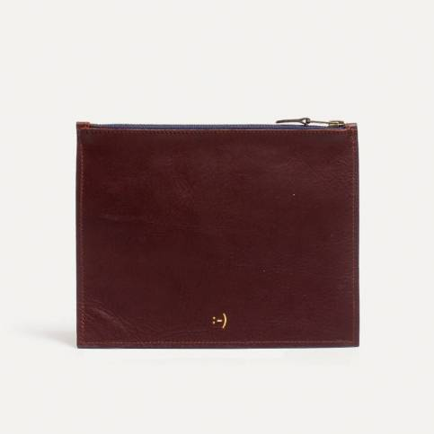 Leather Pouch COSMO M - peat