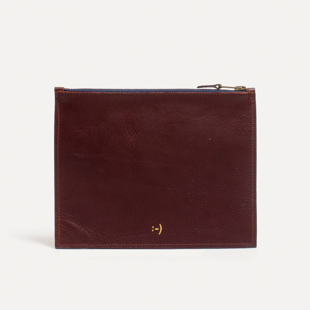 Leather Pouch COSMO M - peat (image n°1)