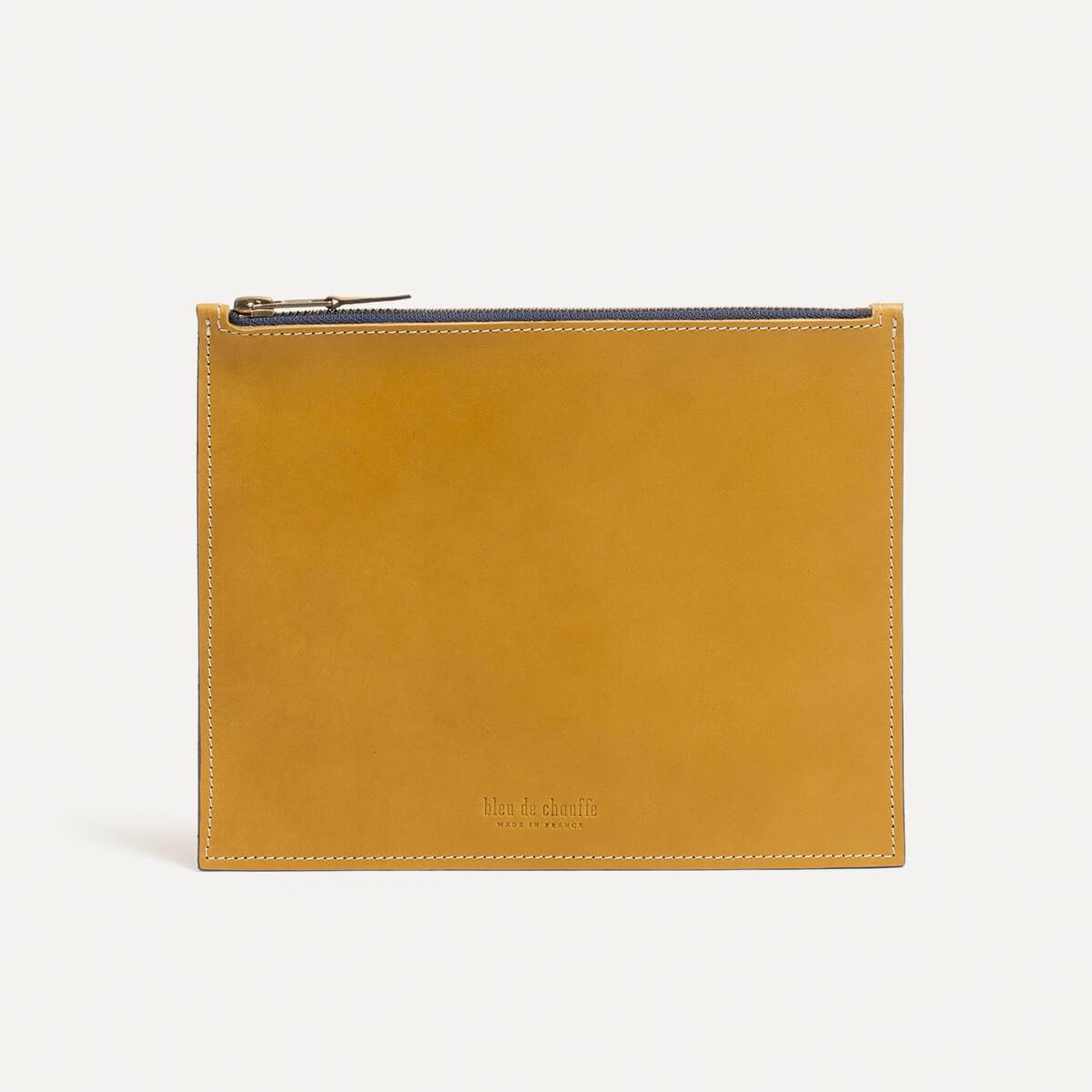 Leather Pouch COSMO M - Yellow (image n°2)