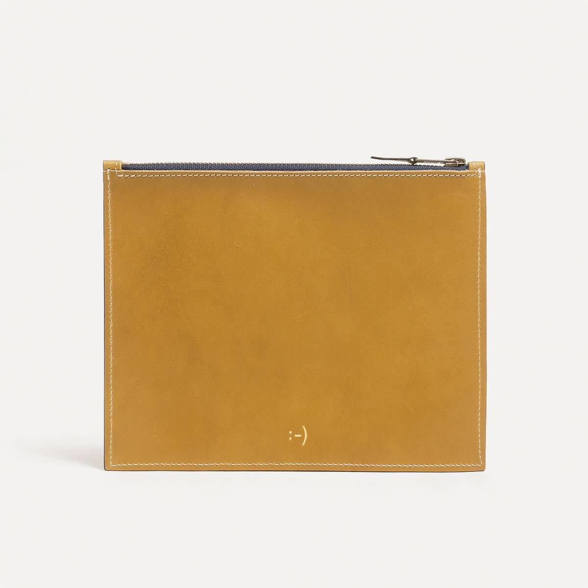 Leather Pouch COSMO M - Yellow (image n°1)