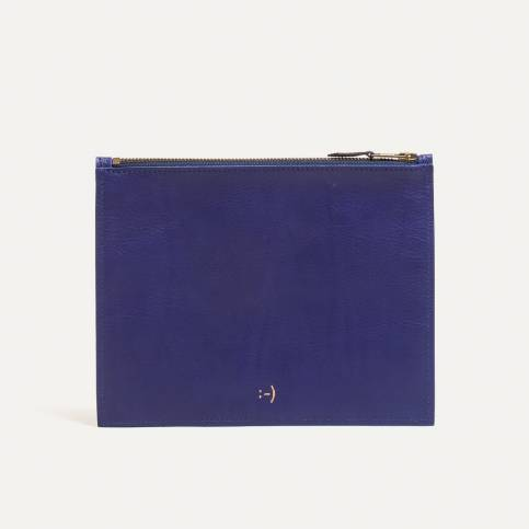 Leather Pouch COSMO M - blue