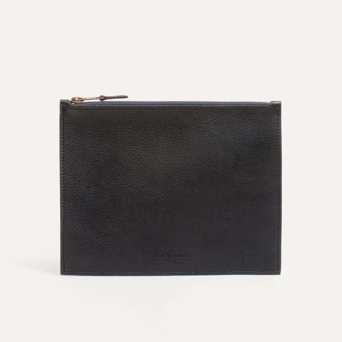 Leather Pouch COSMO M - Black (image n°2)