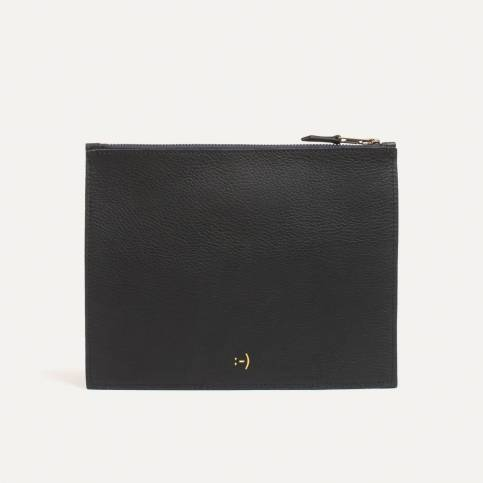 Leather Pouch COSMO M - Black