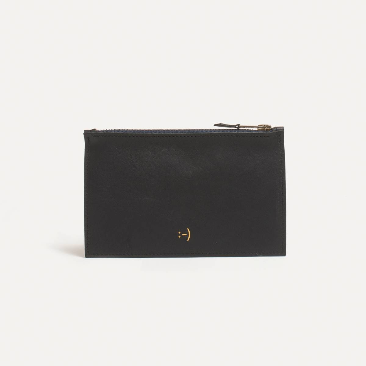 Leather Pouch COSMO S - Black (image n°1)