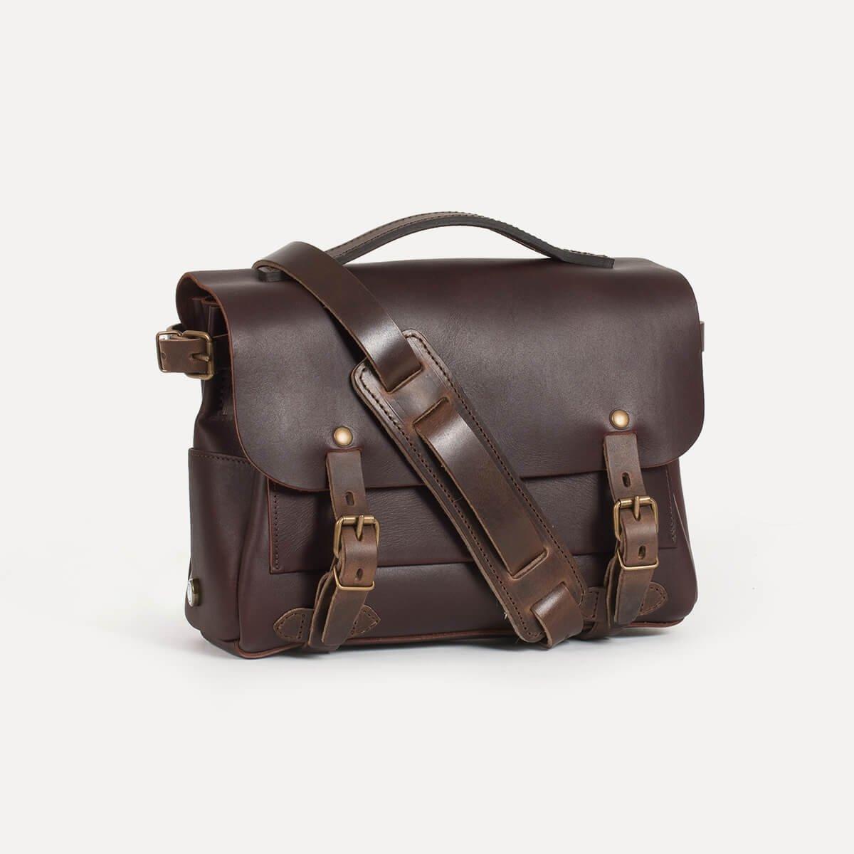 sac postier eclair i sac bedace cuir tann v g tal bleu de chauffe. Black Bedroom Furniture Sets. Home Design Ideas