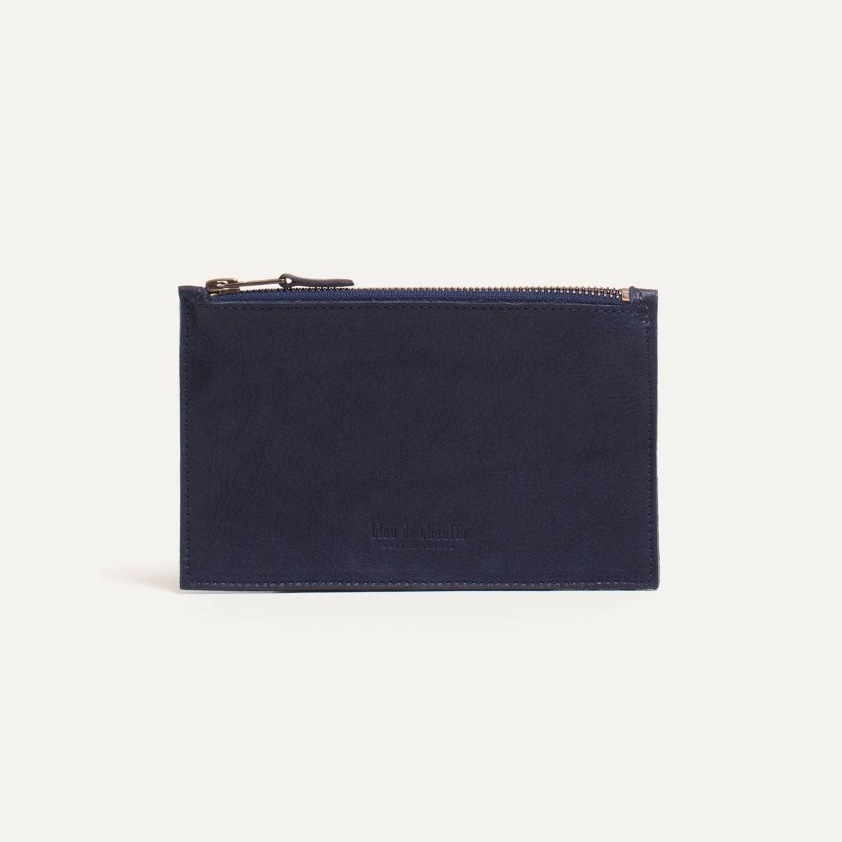 Leather Pouch COSMO S - Navy blue (image n°2)