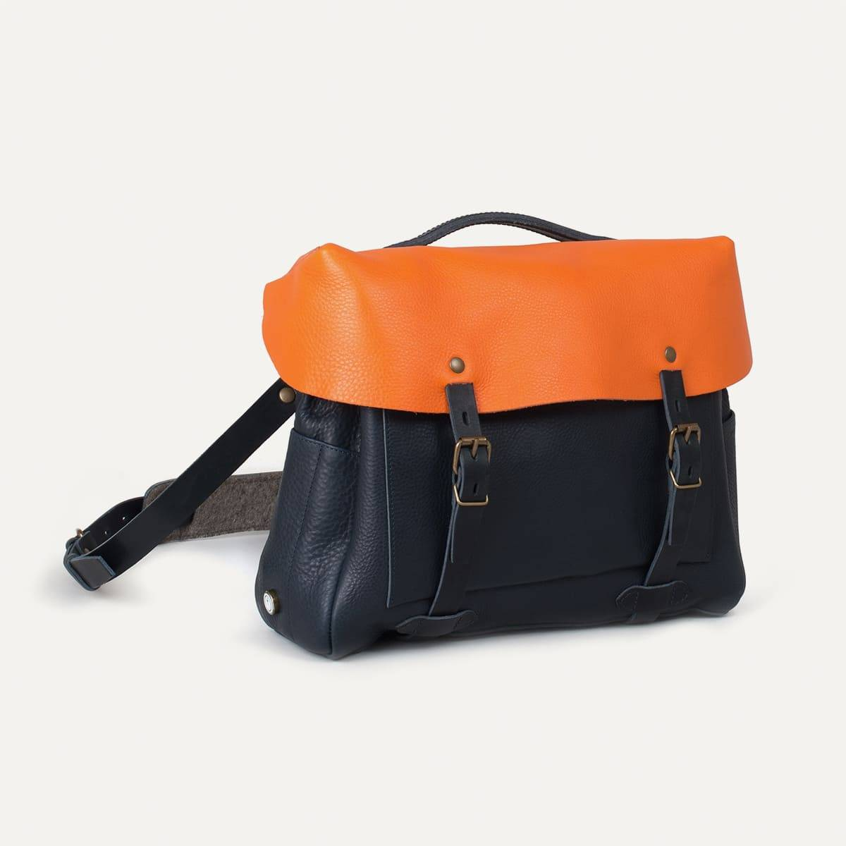 Bleu de Chauffe x Blitz Eclair bag - Navy/Orange (image n°2)