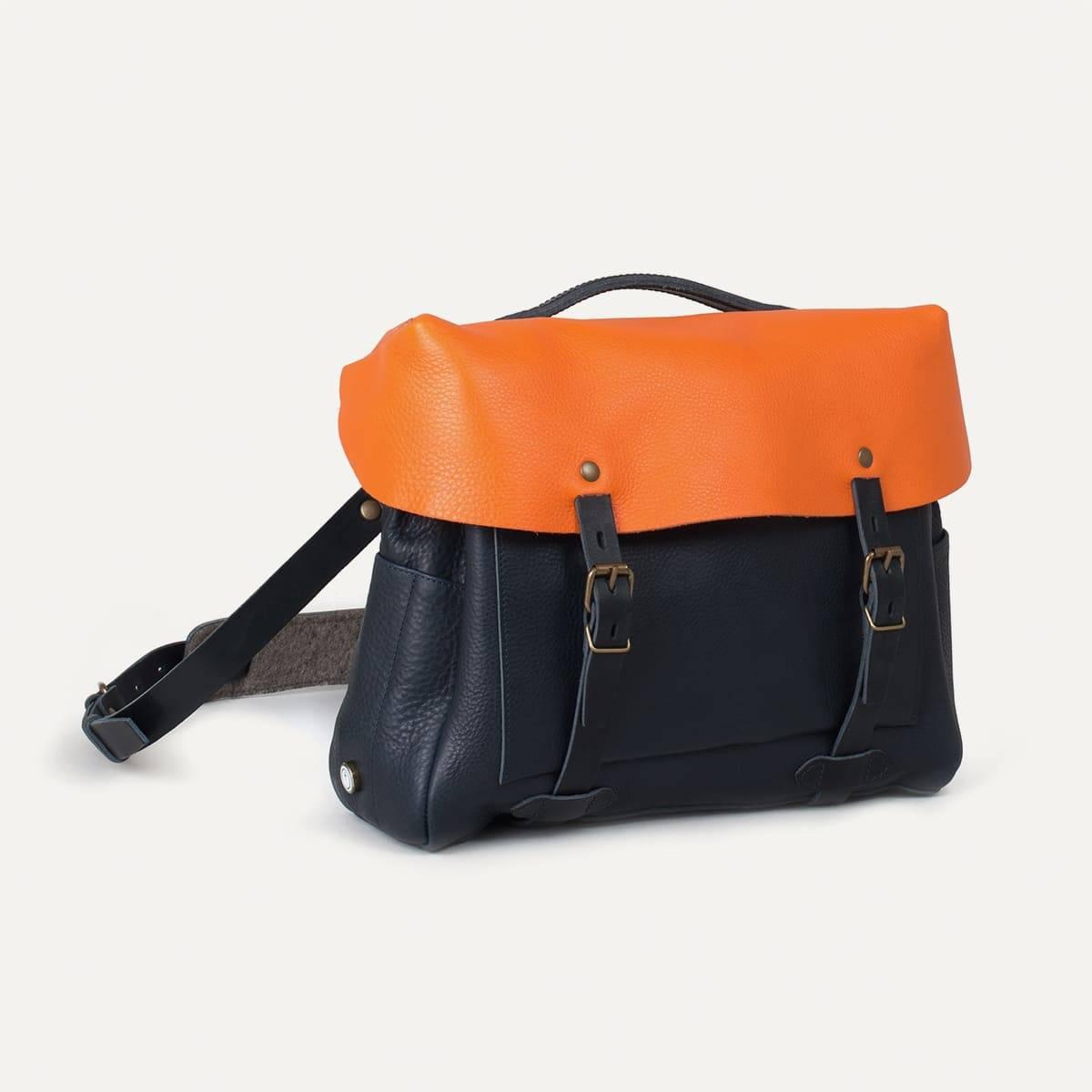 Sac Eclair Bleu de Chauffe x Blitz - Navy/Orange (image n°2)