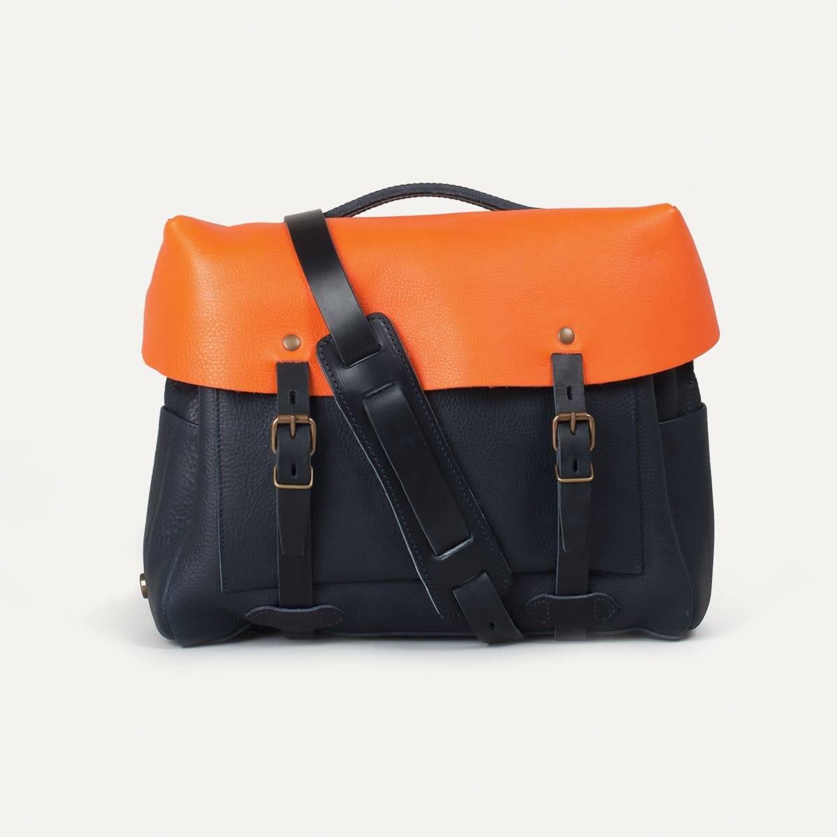 Bleu de Chauffe x Blitz Eclair bag - Navy/Orange (image n°1)