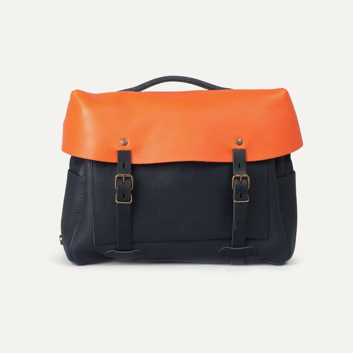 Bleu de Chauffe x Blitz Eclair bag - Navy/Orange (image n°3)