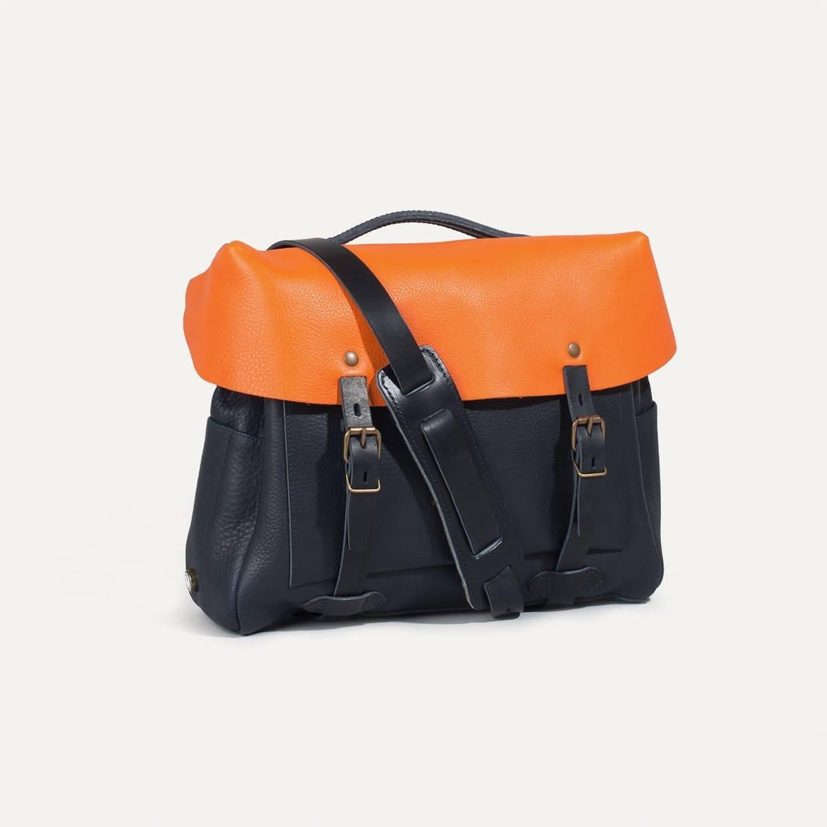 Bleu de Chauffe x Blitz Eclair bag - Navy/Orange (image n°4)