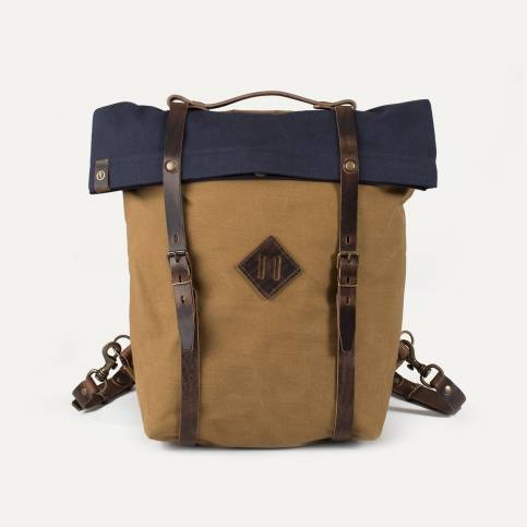 Scout2 Blitz Motorcycles Backpack - Navy/Camel