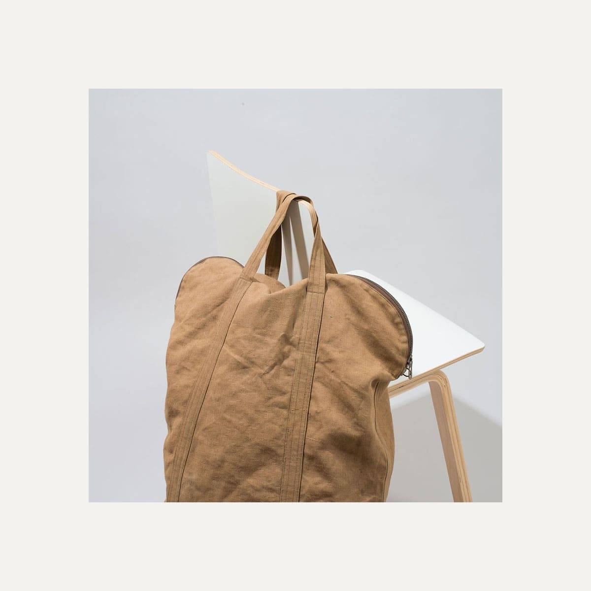 N°4: 'Cashew-colored' linen parachute bag (image n°7)