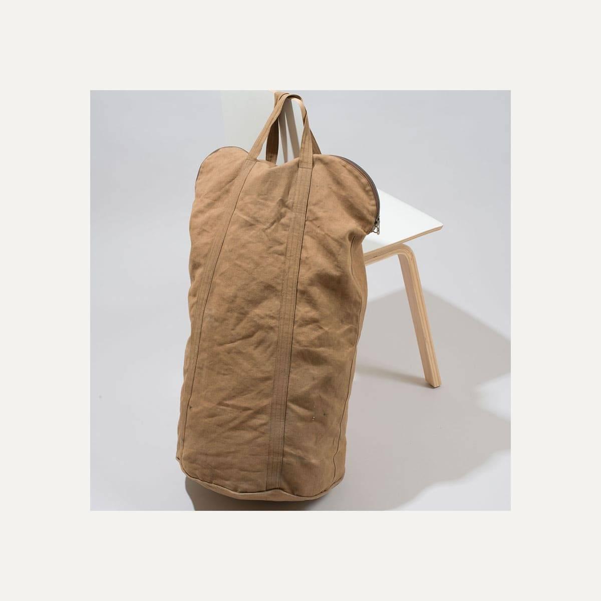 N°4: 'Cashew-colored' linen parachute bag (image n°8)