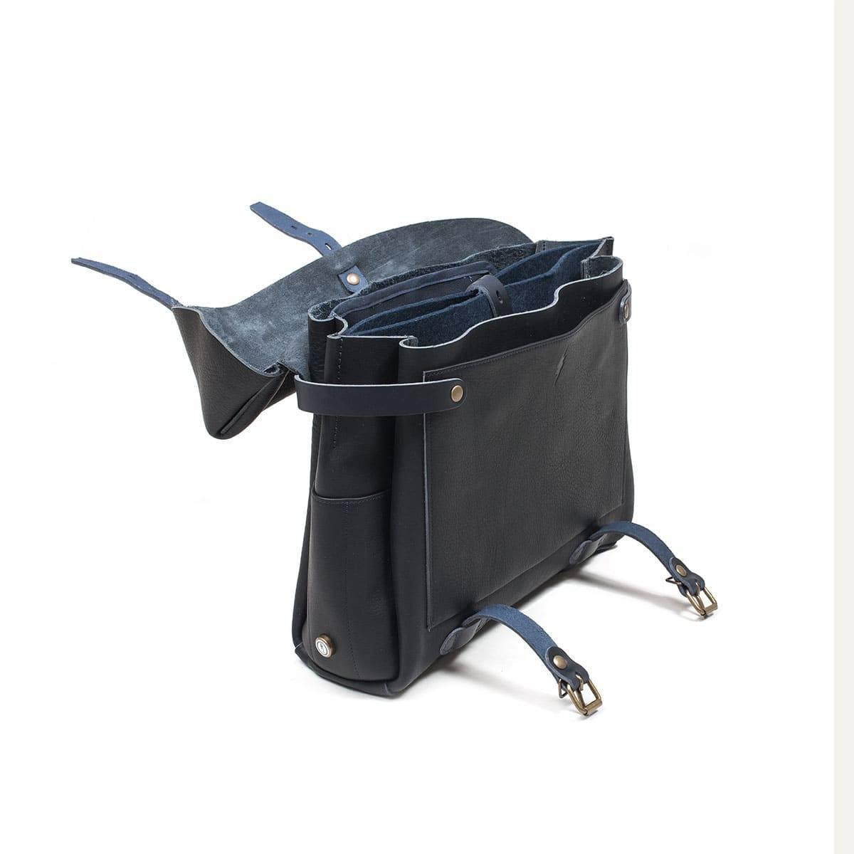 Bleu de Chauffe x Blitz Eclair bag - Navy (image n°8)